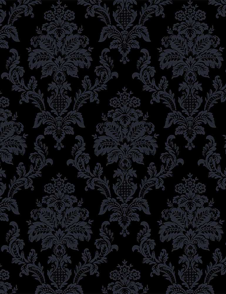 STELLA-P1623 / BLACK / DAMASK