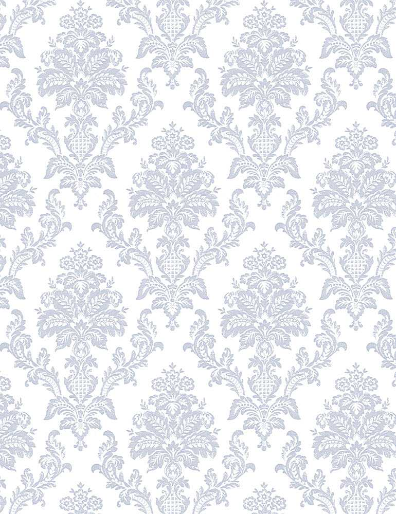 STELLA-1623 / WHITE / HEIRLOOM DAMASK