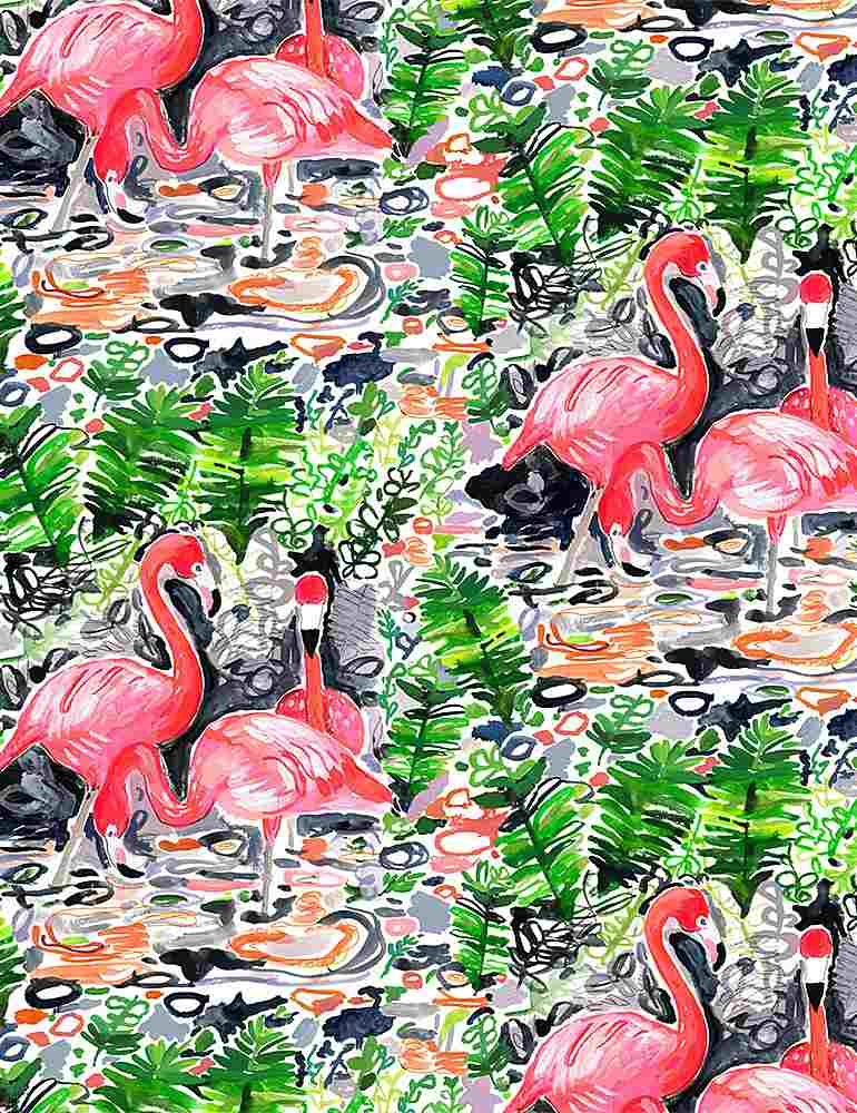 STELLA-DJL1776 / MULTI / FLAMINGOES