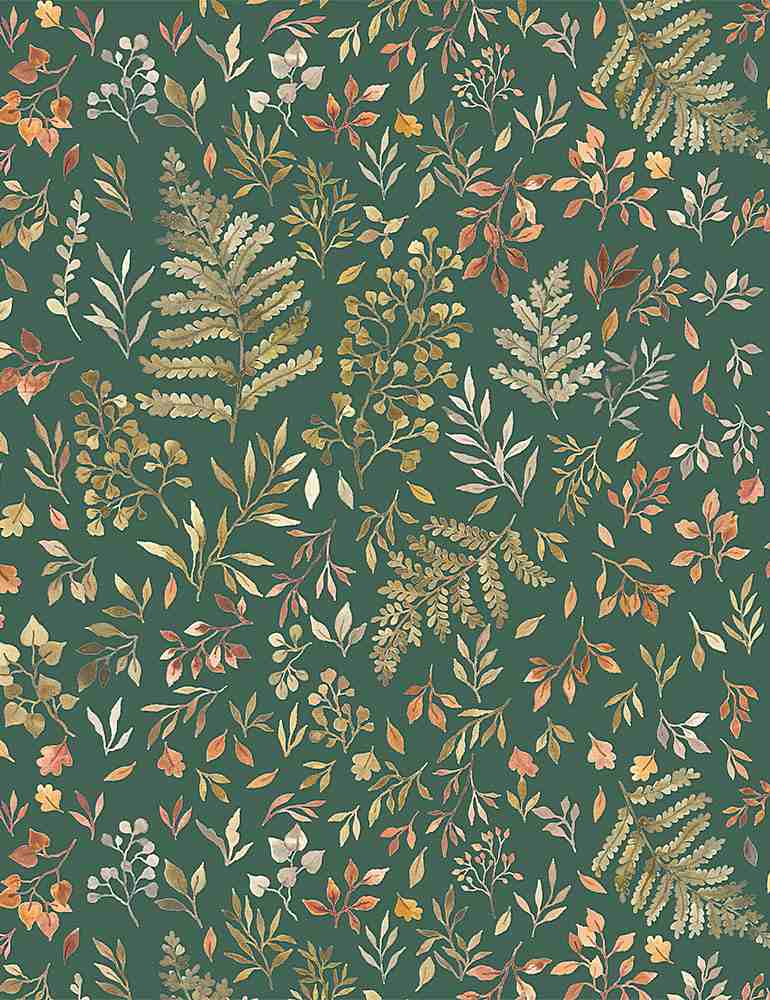 STELLA-DNS1906 / WILLOW / AUTUMN FERNS & LEAVES
